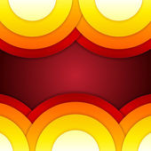 Abstract red, orange and yellow round shapes background — ストック写真