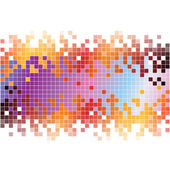 Abstract digital background with colorful pixels — ストック写真