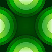 Abstract green paper circles vector background — ストック写真
