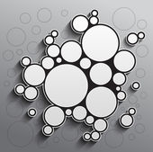 Abstract background with black and white circles — Foto Stock