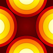 Cerchi astratti rossi e arancione vettore sfondo — Foto Stock