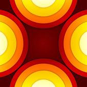 Abstraktní červené a oranžové kruhy vektorové pozadí — Stock fotografie