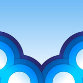 Abstract blue paper circles background — Stock Photo