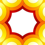 Abstract red and orange circles vector background — Photo