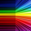 Stock Photo: Abstract rainbow warped stripes background