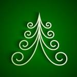 White 3d paper christmas tree — Stock Photo #38930345