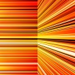 Stock Photo: Abstract warped orange and yellow stripes