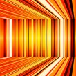 Stock Photo: Abstract yellow and orange warped stripes