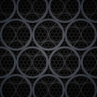 Abstract dark grey metal circles vector background — Stock Photo