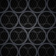 Abstract dark grey metal circles vector background — Stock Photo #38930737