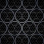 Abstract dark grey metal circles vector background — Stock Photo