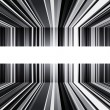 Stock Photo: Abstract black and white warped stripes background