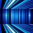 Stock Photo: Abstract blue and white warped stripes background