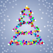 Christmas confetti tree background — Stock Photo