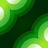 Abstract green paper circles vector background — Foto Stock
