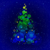 Abstract shining christmas tree — Stock Photo