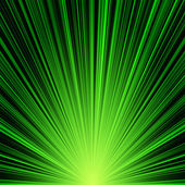 Abstract green stripes burst background — Stock Photo