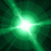 White shining circles and stars green background — Foto de Stock
