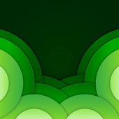 Abstract green round shapes background — Stock Photo