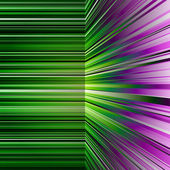 Abstract warped green and purple stripes — ストック写真