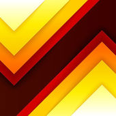 Abstract red, orange and yellow triangle shapes — Stock Photo