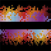 Abstract digital background with colorful pixels — Foto Stock