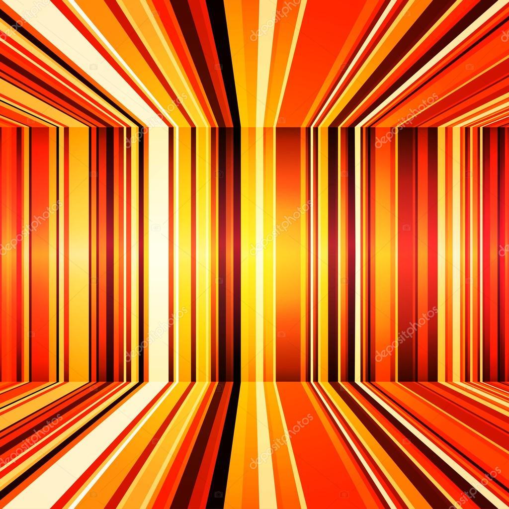 Abstracto rojo naranja y amarillo retro rayas de fondo - Amarillo naranja ...