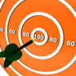 Stock Photo: Dart hitting target