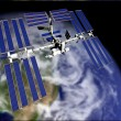 Satellite in Orbit - Stockfoto