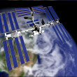 Stock Photo: Satellite in Orbit