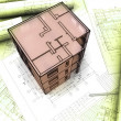 3D plan drawing - Stockfoto
