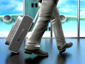 Business man at the airport — Stock Photo