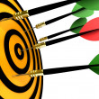 Dart hitting the target - Foto Stock