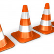 The 3d traffic cones isolated over white — Stock Photo #13306998