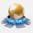 Global network the Internet — Foto de Stock