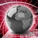 Binary Globe — Stock Photo