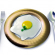 Fired egg — Stock Photo
