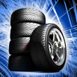 Wheels for the sports car — Stock Photo