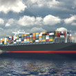 Large container ship — Stock Photo