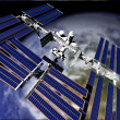 Satellite in Orbit — Stock Photo