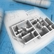3D plan drawing — Stock Photo #13308347