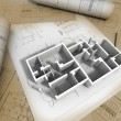 3D plan drawing — Stock Photo