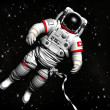 The astronaut on in an outer space against stars — Stock Photo