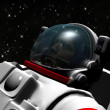 The astronaut on in an outer space against stars — Stock Photo #13308663