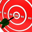 Stock Photo: Dart hitting the target