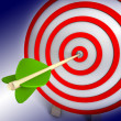 3d target and arrows — Stock Photo