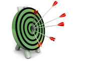 3d target and arrows, isolated on white — Stock Photo