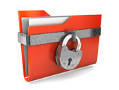 Data security. 3d illustration of folders closed isolated on white. — Stock Photo
