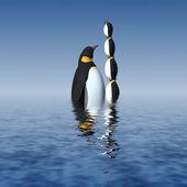 Zabawa pingwiny — Zdjęcie stockowe