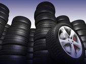 Tyres the — Stock Photo